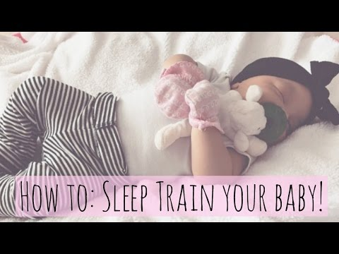 How I sleep trained my baby! Getting baby to self soothe