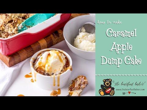 Caramel Apple Dump Cake Recipe | The Bearfoot Baker