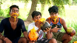 EATING TalFal without Cooking by Village Boys | What is the Tasty of Tal Fruit and Benefits