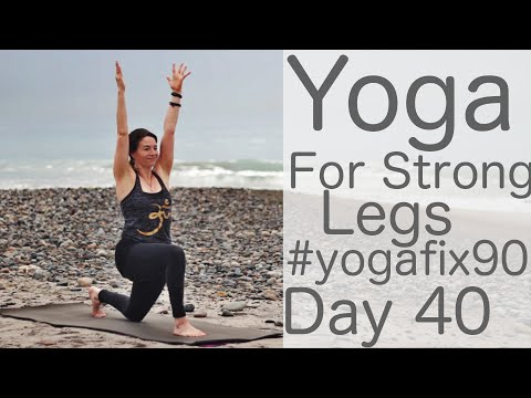 28 Min Yoga for Strong Legs Day 40 Yoga Fix 90 with Fightmaster Yoga