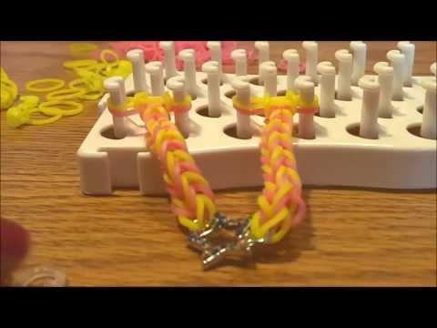 Make a Rainbow Loom Fishtail Bracelet with Charm