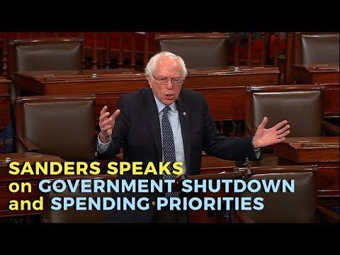 Sanders Speaks on Government Shutdown and Spending Priorities