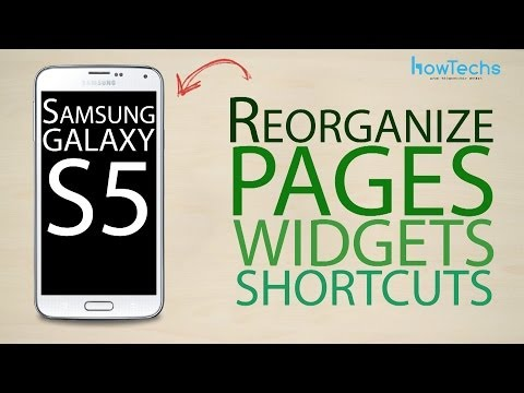Samsung Galaxy S5 - How to reorganize page, app and widget