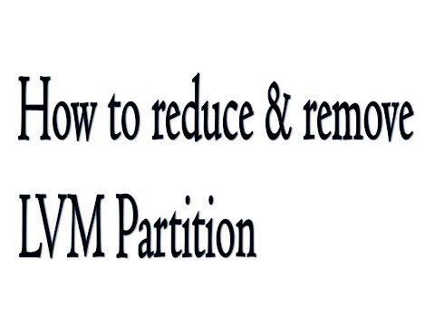 How to Reduce & Remove LVM Partition