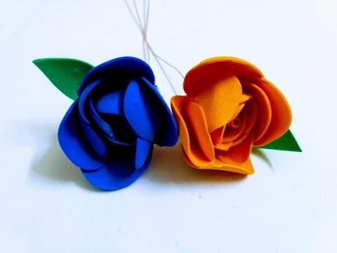 Making foam paper rose | easy and simple