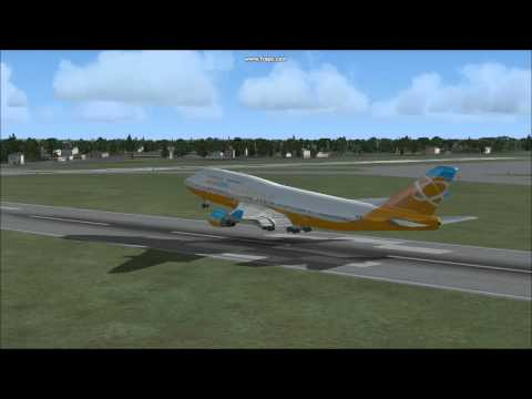 Flight Simulator X - Boeing 747-400 - London Heathrow to Birmingham - Take Off and Landing