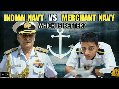 Indian Navy Vs Merchant Navy - Difference Between Merchant Navy And Indian Navy (Hindi)