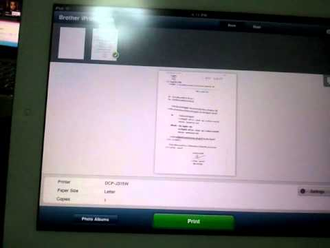 How to Use IPAD2 to Print Brother Network All In One Printer