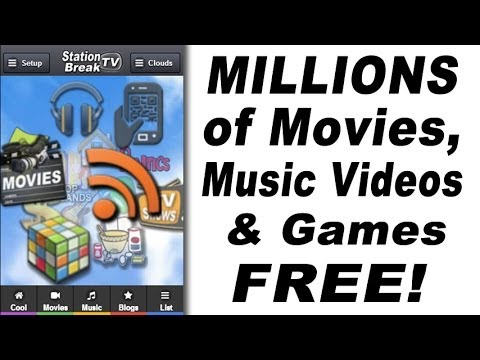 Millions of Movies, Music Videos, TV Shows & Games FREE