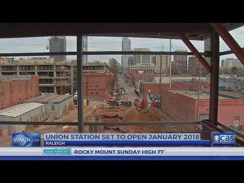 Construction on schedule for Raleigh transportation hub
