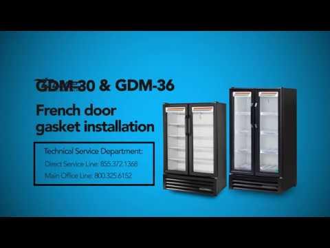 True GDM-30 / GDM-36 French Door Gasket Installation