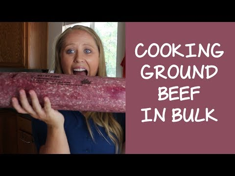 Cooking Ground Beef in Bulk