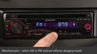 Kenwood KDC-352U CD Receiver Display and Controls Demo
