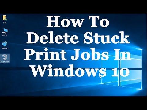 Windows 10 Tutorial - How To Delete Stuck Print Jobs