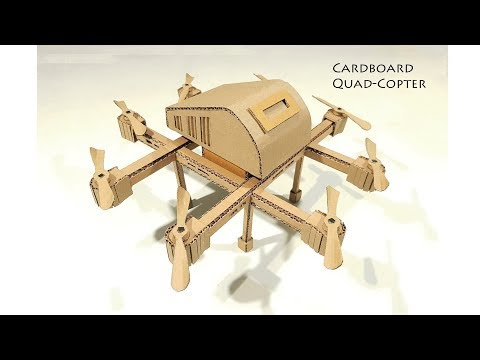 How to make a Quadcopter Drone From Cardboard