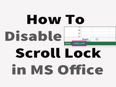 How to disable Scroll Lock in Excel 2013 / Laptop || Turn off Scroll Lock