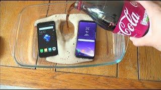 Xiaomi Redmi 4X vs Samsung Galaxy S8 Cherry Coca-Cola Test!
