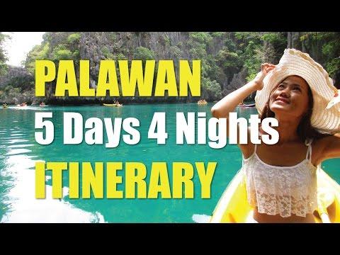 Puerto Princesa to El Nido PALAWAN Tour 5 Days 4 Nights ITINERARY