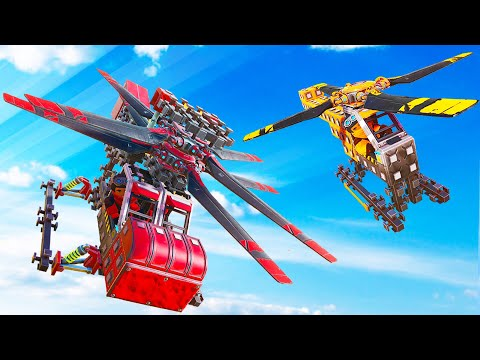 BUILDING CRAZY HELICOPTER CHALLENGE! (Trailmakers)