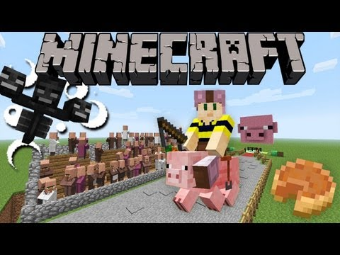 Minecraft 1.4 Snapshot: Turbo Pig, Pumpkin Pie, Exploding Wither, Custom Worlds, & More! 12w37a