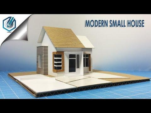 Model making of modern residential small house-