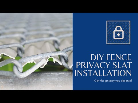 How to Install chain link Privacy Slats. www.justslats.com