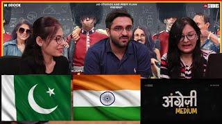 Angrezi Medium - Official Trailer | Irrfan Kareena Radhika | Dinesh Vijan | PAKISTAN REACTION