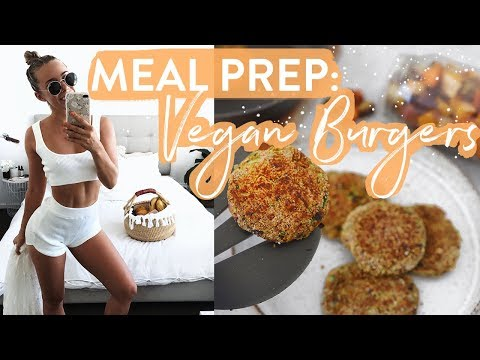 MY HEALTHY & FIT LIFE! Meal Prep for School & Work: Vegan, GF, DF Chickpea Burgers!