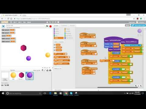 Make a Bouncing Ball in Scratch - Episode 6 - Functions and Game Play