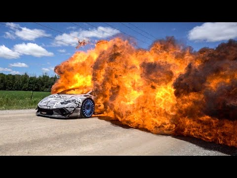 DRIVING A LAMBORGHINI THROUGH FIRE!