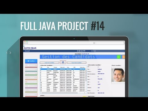 Projet Java#14:Comment déplacer les données de jtable à jtext,jlabel