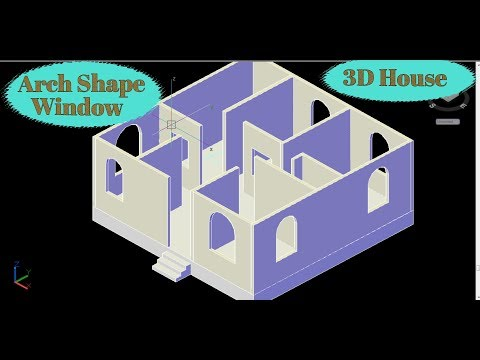 Arch shape window Creating in 3d house in AutoCAD | Arch Window in Autocad 3D | CAD CAREER