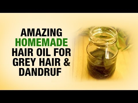 Amazing homemade hair oil for gray hair and dandruff- Dr. divya- Beauty Tips filler
