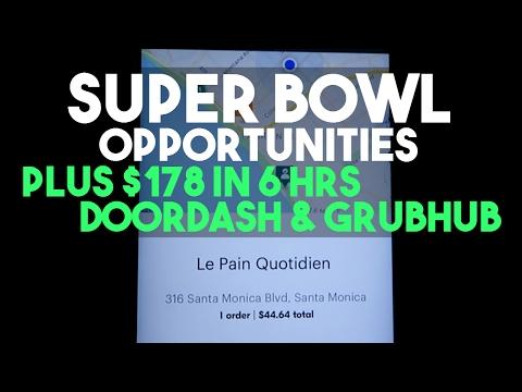 Super Bowl Opportunities With Uber PLUS $178 in 6 Hours DoorDash & GrubHub