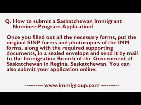 How to submit a Saskatchewan Immigrant Nominee Program Application?