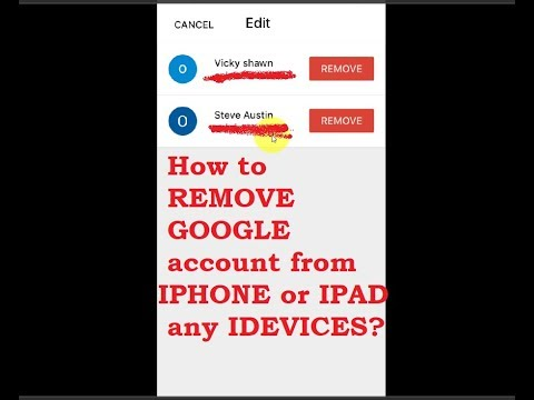 How to REMOVE GOOGLE account from IPHONE or IPAD any IDEVICES?