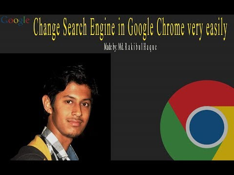 Change Search Engine in Google Chrome very easily