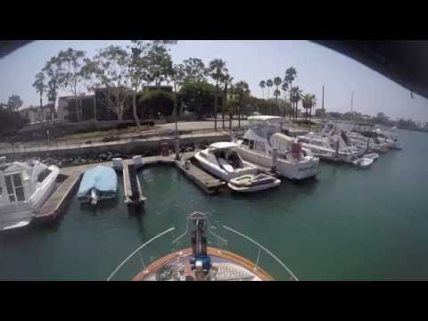 Struggle to dock single engine trawler, wind, current, kayaks