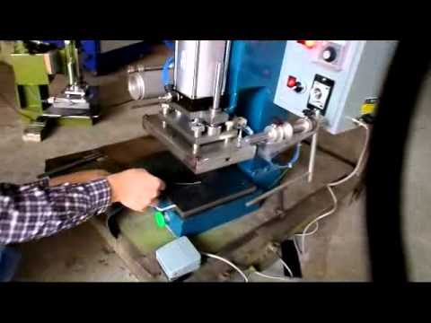 pneumatic leather logo hot foil stamping machine