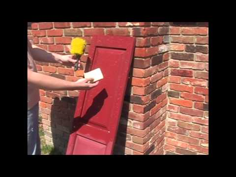 Cleaning Vinyl Shutters with Shutter Saver
