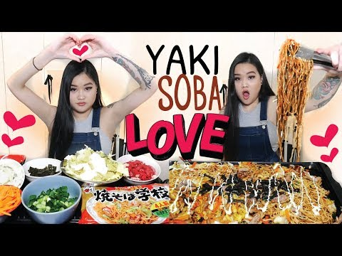 YAKISOBA LOVE NOODLE MUKBANG | EATING SHOW