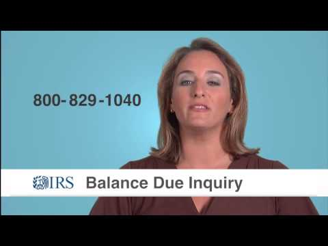 IRS Balance Due Inquiry - IRS Tax Aid - Tax Problem Information Trucker Tax Help