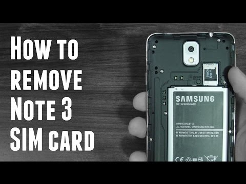 How to remove and access Note 3 SIM card (Verizon Note 3)