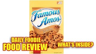 Famous Amos Cookies Review - Chocolate Chip & Pecans Bite Size