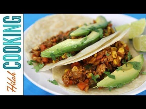 How to Make Vegetarian Tacos! |  Hilah Cooking