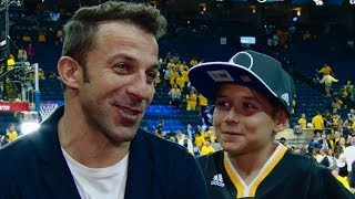 Football Star Alessandro Del Piero At Game 5 of the 2017 NBA Finals