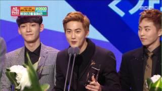 [2015 MBC Entertainment Awards] 2015 MBC 방송연예대상 - EXO, 가수 부문 '인기상' 수상! 20151229