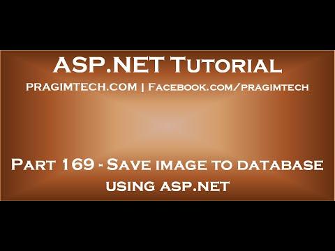 Save image to database using asp net