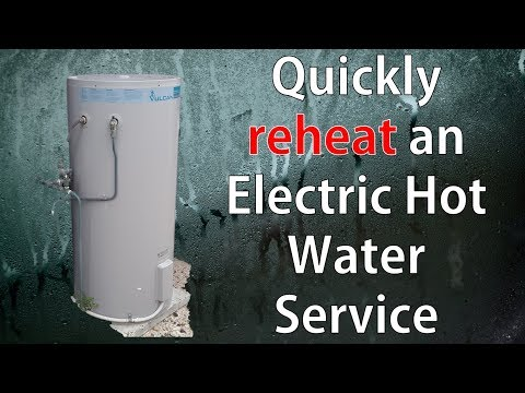 Quickly Re-Heat an Electric Hot Water Service