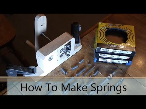 Making Springs Easy, Inexpensive, & Safe